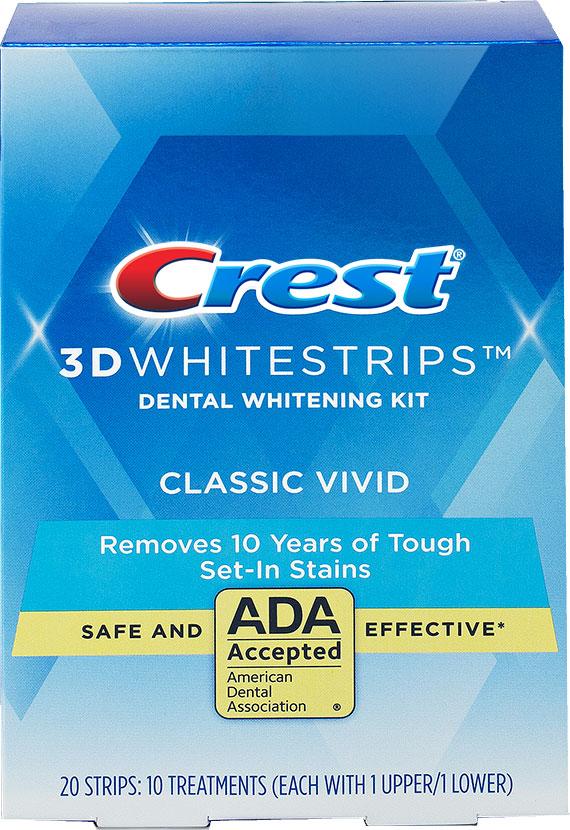 bělící pásky na zuby Crest 3D White Vivid